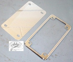 0010 - Chrome License Backing Plate and Frame