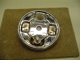 0023 - Chrome Rear Drum Brake Backing Plate