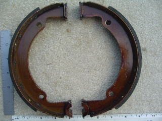 0026 - Rear Mechanical Brake Shoe Set 1937-1957