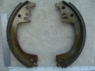0027 - Rear Brake Shoe Set Hydraulic 1958-1962