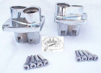 0078 - Chrome Panhead / Shovelhead Tappet Blocks