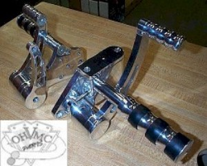 0102 - Polished Billet Aluminum Forward Controls by BDL