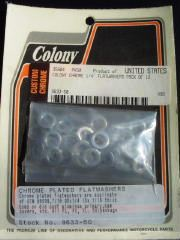 "0140 - Chrome Flat Washers For 1/4"" Allen Fasteners"