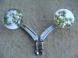 0213 - Round Billet Style Mirror Set